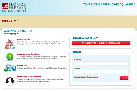 College Savings Account | College Tuition Program | Florida